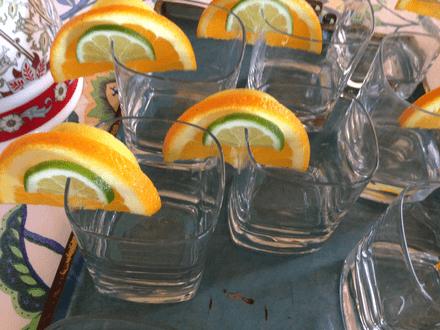 Orange Slice Shot Glasses